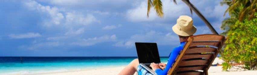 Im Urlaub arbeitet jeder Fünfte